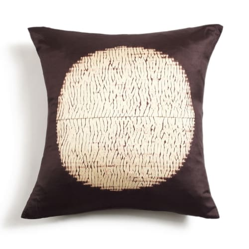 Pillows by Studio Variously seen at Private Residence, Bloomfield Hills - Shunya Black Silk Pillow