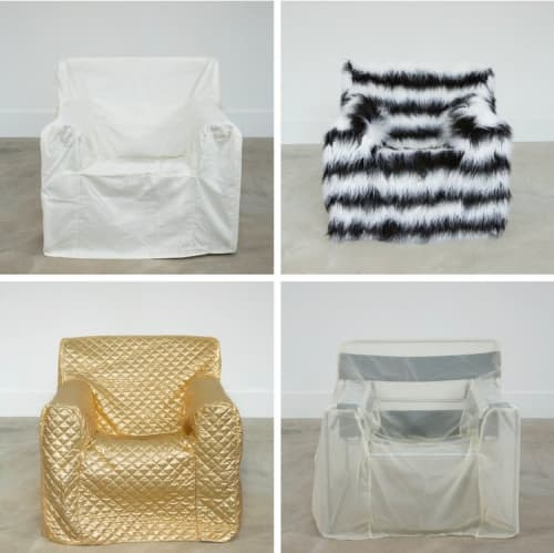 Chairs by Rochelle Udell seen at Private Residence - Ossining, NY, Ossining - Le Corbusier: 'Life-Size Slipcovers'