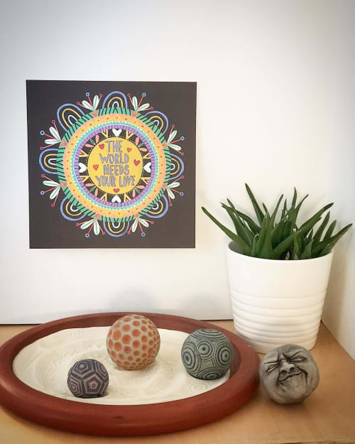 Art & Wall Decor by Julz Clementine seen at Private Residence, Portland - The World Needs Your Love Print