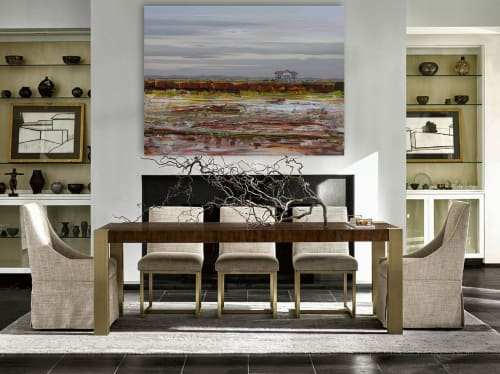 Paintings by Loretta Kaltenhauser Contemporary Fine Art seen at Private Residence, Cobourg - Cloud Nine