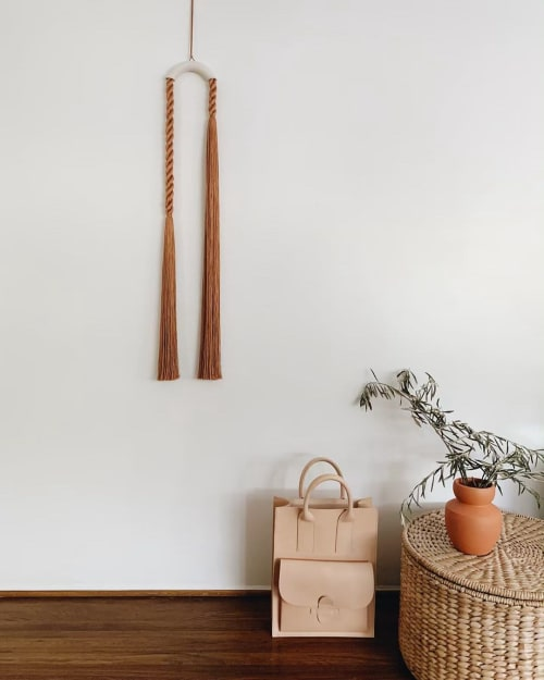 Wall Hangings by Cindy Hsu Zell seen at Croft House, Los Angeles - Arch Series: Rust