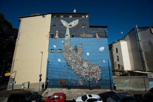 Street Murals by Mrfjodor aka Fjodor Benzo seen at Fermata 199 - Porta Palazzo, Turin - Life Below Wate
