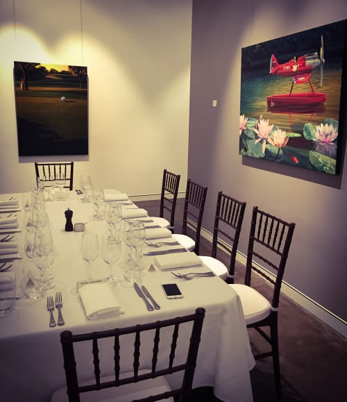 Paintings by ross jones seen at Private Residence - En-route