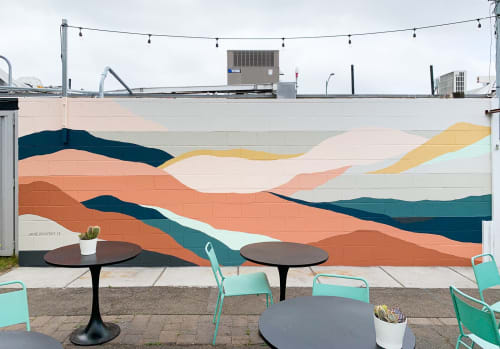 Murals by Betty Larkin seen at 2335 University Ave, San Diego - Communal Coffee