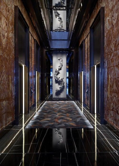 Sculptures by Julius Weiland seen at The Ritz-Carlton, Hong Kong - Wall sculpture for Ritz Carlton Hong Kong