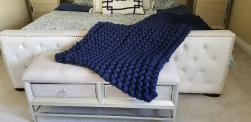 Linens & Bedding by Knit Like A Boss seen at Private Residence, Langley - Double Size Merino Wool blanket