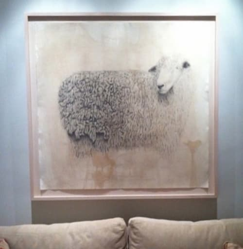 Paintings by Meagan Donegan seen at Private Residence, Santa Fe - Sheep drawing
