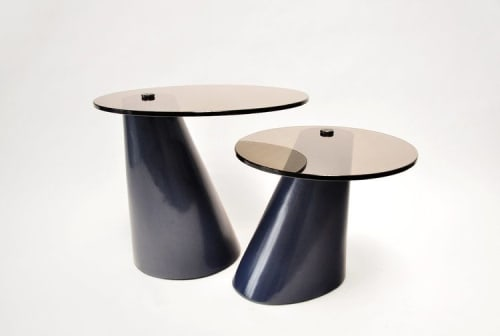 Tables by Lumifer by Javier Robles seen at Palazzo Del Sol, Fisher Island, Miami Beach - Satellite Tables