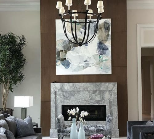 Paintings by Liz Barber seen at Private Residence, Delray Beach - Sea Spray 3