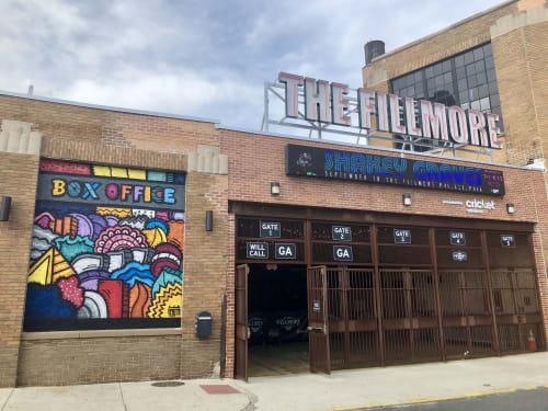 Street Murals by Alloyius Mcilwaine Art seen at The Fillmore Philadelphia, Philadelphia - Fillmore Mural