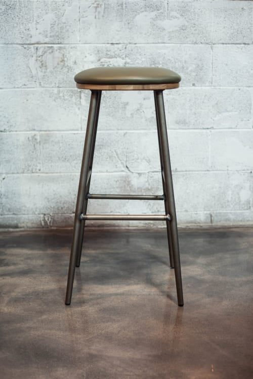 Chairs by Crow Works seen at High Bank Distillery Co, Columbus - Union Stool