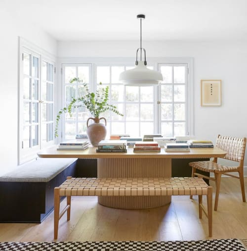 Benches & Ottomans by Barnaby Lane seen at Private Residence, Los Angeles - Kent  Oak Bench - Tan