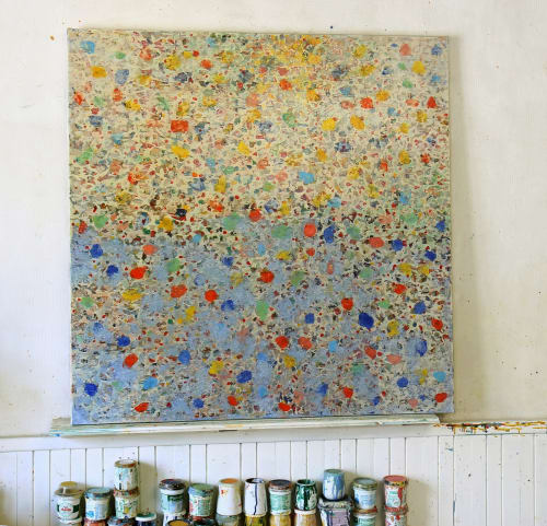 Paintings by Vincent Lemaitre seen at Private Residence, Nantes - Painting and collage
