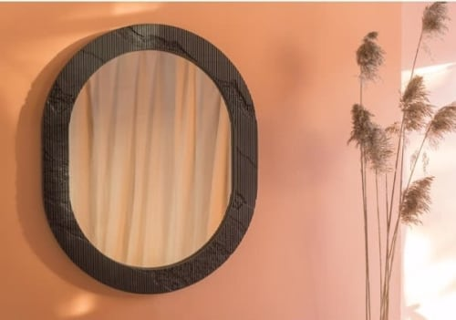 Wall Hangings by Simon Johns seen at Piers 92/94, New York - Shale Mirror