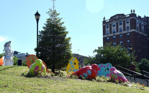 Public Sculptures by Nancy Saleme seen at Joyce Kilmer Park, Bronx, Bronx - Flying High for Equality