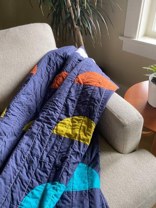 Linens & Bedding by Studio Prismatic seen at Creator's Studio, Portland - Half Moon Bridge Quilt in 100% Organic Cotton