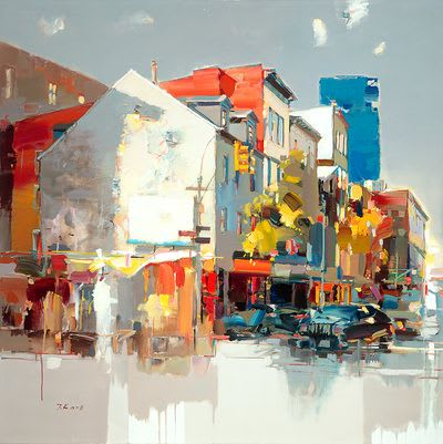 "Art & Wall Decor by YJ Contemporary seen at East Greenwich, East Greenwich - Josef Kote ""Springtime in Soho"