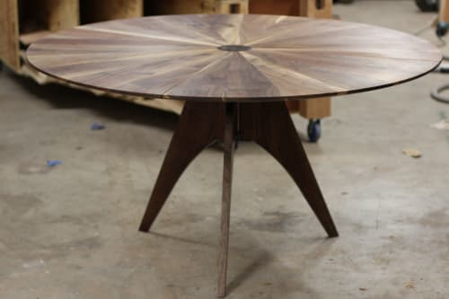 Tables by Steve Tiller seen at Private Residence, Brooklyn - Sun Table