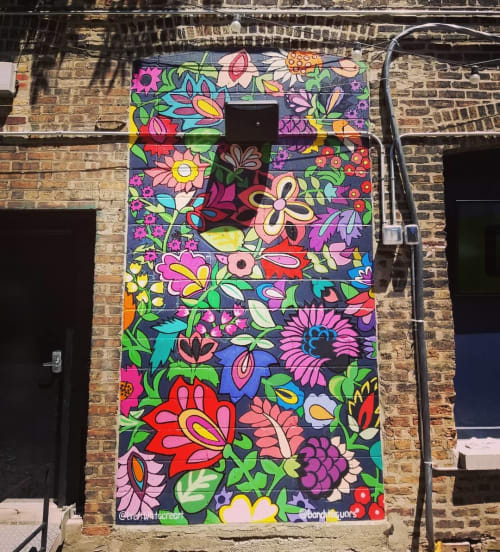 Murals by Brett Whitacre seen at Bandit, Chicago - Flower Mural