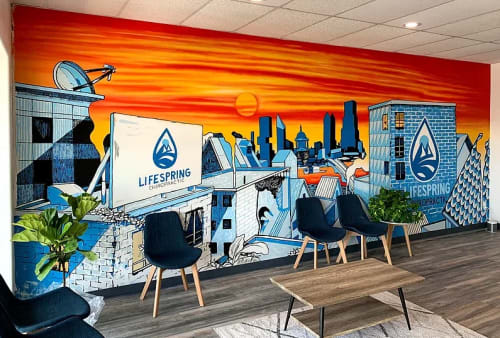 Murals by Jason Eatherly seen at Lifespring Chiropractic, Austin - Mural