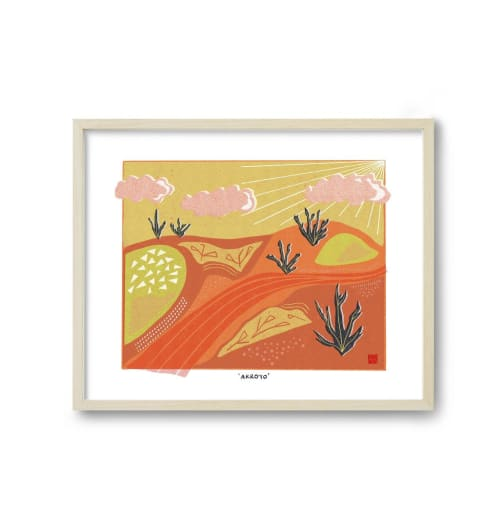Paintings by Birdsong Prints seen at Creator's Studio, Denver - Desert Art Print