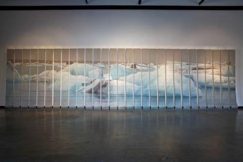 "Wall Treatments by Nicole Pietrantoni seen at American University Museum at the Katzen Arts Center, Washington - ""Implications"""