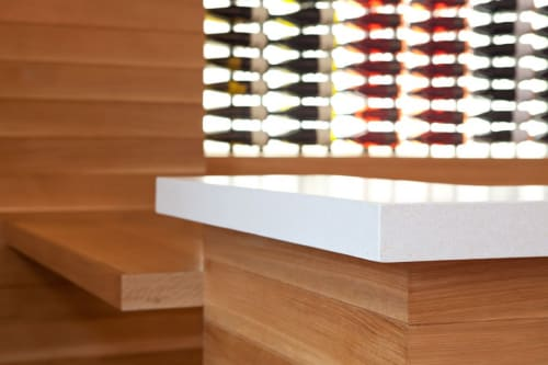 Furniture by Concreteworks seen at Etude Wines, Napa - Countertops