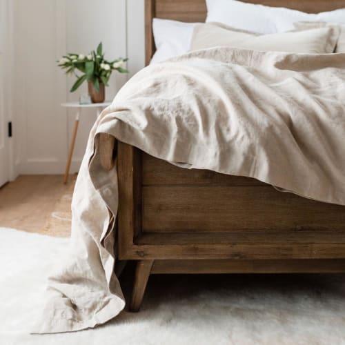 Linens & Bedding by Rough Linen seen at Rough Linen, San Rafael - Smoot Linen Duvet Cover