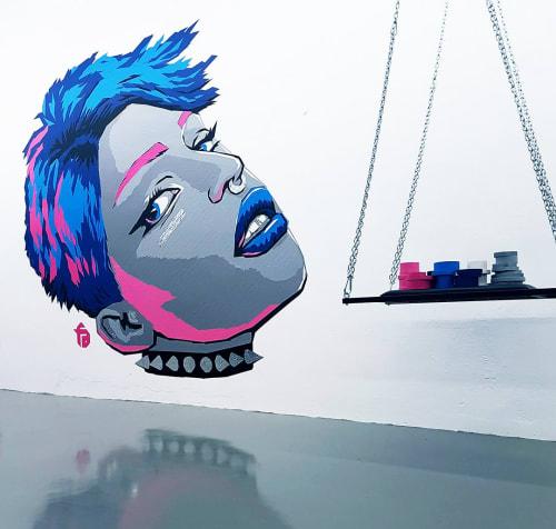 """Tape Art Mural """"Be kinky""""   Murals by Fabifa   Georg-Knorr-Straße 4 in Berlin"""