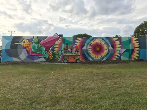 Street Murals by Jason T. Graves seen at Wynwood Art District, Miami - Art Basel 2019 - Collaboration mural - Wynwood Art District, Miami, Fla.