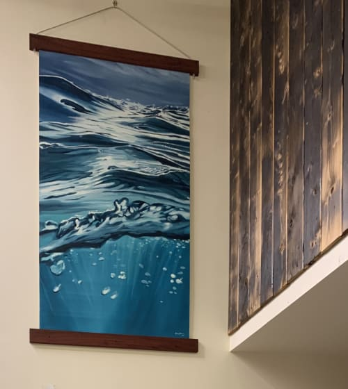 Paintings by Amanda Szopinski seen at Cosube, Portland - MISSION BLUE