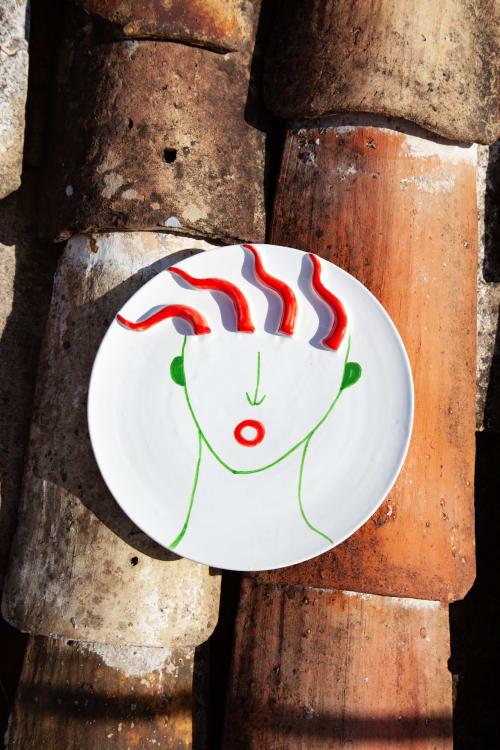 Ceramic Plates by Patrizia Italiano seen at Creator's Studio - Totuccio plate with reliefs
