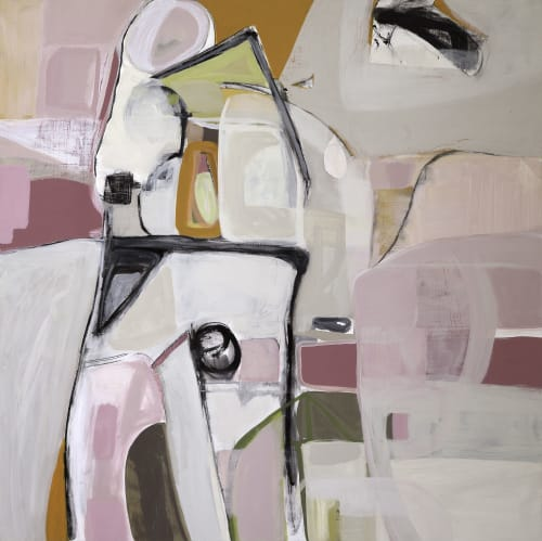Paintings by Irene Nelson seen at Ruby LivingDesign, Mill Valley - Interiors