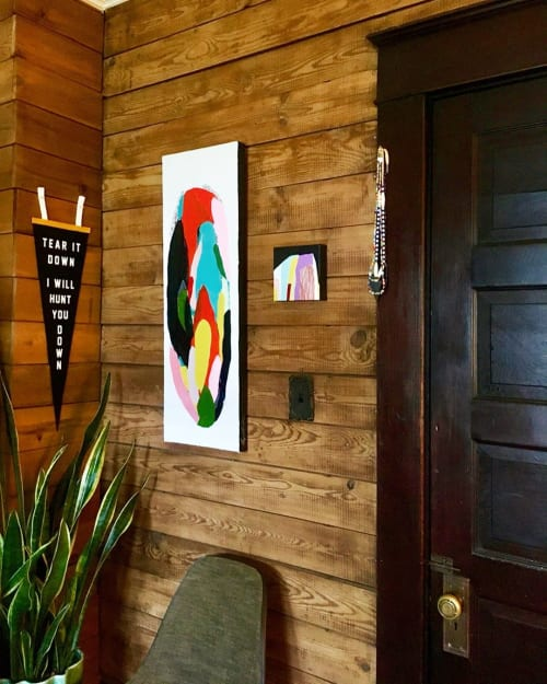 Paintings by Angie the Rose seen at Private Residence, Greensboro - Molecular series painting