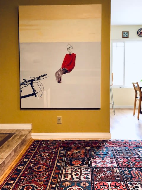 Paintings by Dalit Fresco seen at Private Residence, Thousand Oaks - Red Boy