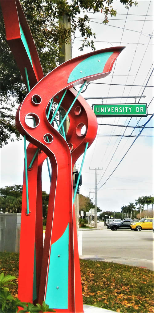 Public Sculptures by Gus Lina Fine Art seen at Northwest 34th Street & North University Drive, Coral Springs - Tree