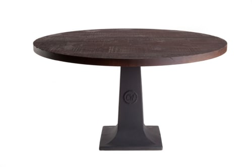 Tables by Crow Works seen at Nationwide Arena, Columbus - CW Pedestal Table