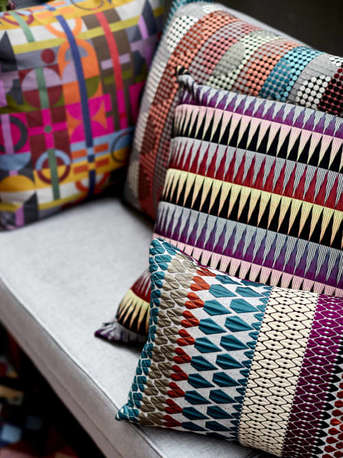 Pillows by Margo Selby seen at Private Residence, London - Calypso Cushion