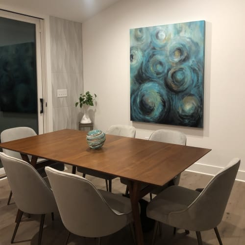 Paintings by Shelley Gentry seen at Private Residence, Nashville - Spinning