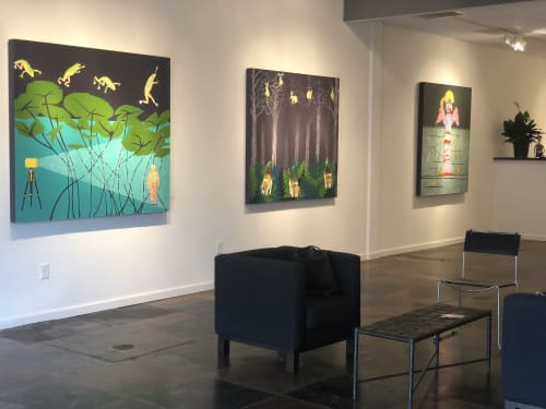 Paintings by Pam McDonnell Art seen at L Ross Gallery, Memphis - Leap Frog