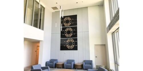 Photography by Kate Wilson Fine Art seen at New England Institute of Technology, East Greenwich - Illuminate 5, triptych photographic design