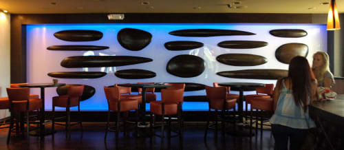 Wall Hangings by Andrew Reid SHEd seen at 6947 NE 3rd Ave, Miami - Custom Suspended Screen and Room Divider