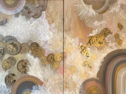 Paintings by Amanda M Moody seen at Private Residence, Cornelius - feathers