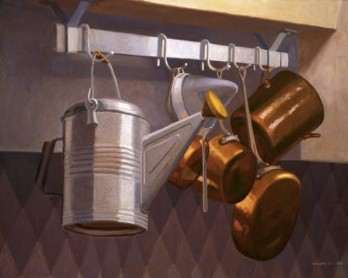 Paintings by William Low seen at Memphis, Memphis - Test Kitchen Pots