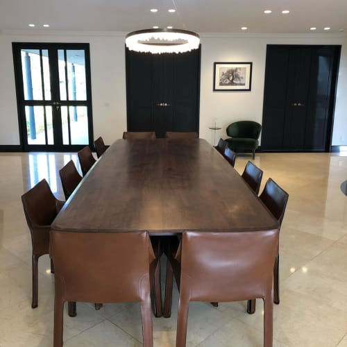 Tables by Assembly Bespoke by Marcello Rotar seen at Private Residence, Melbourne - Walnut Dining Table