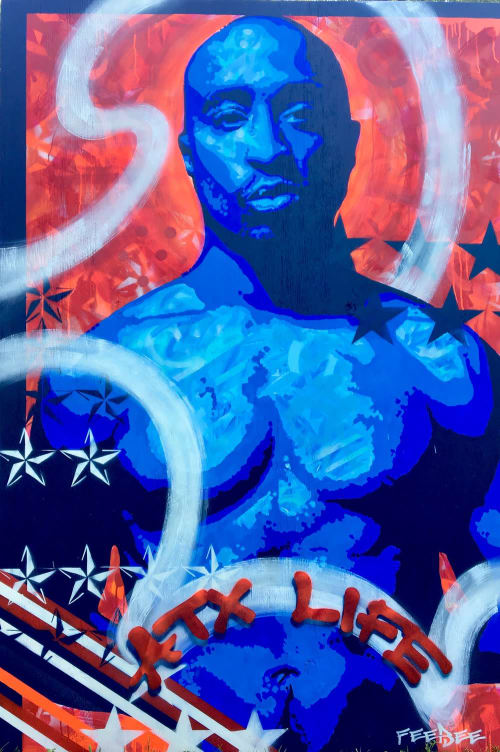 Paintings by FeeBee Art seen at Private Residence, Austin - Tupac