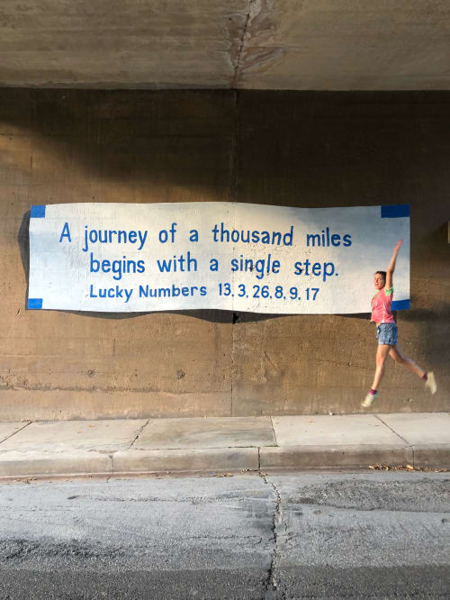 Street Murals by Mariel Pohlman seen at Katy Trail, Dallas - Good Fortune, Part 2