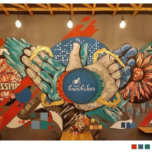 Murals by Nidhin Joseph seen at Private Residence, Vellore - Finger puppets