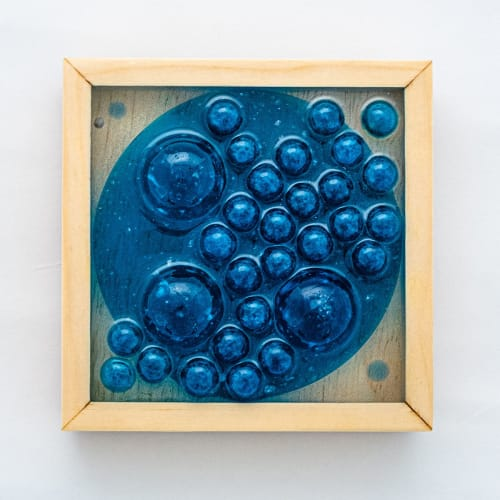 Sculptures by Ava Bock seen at Creator's Studio, Asheville - 4x4 Framed Resin Wall Sculpture