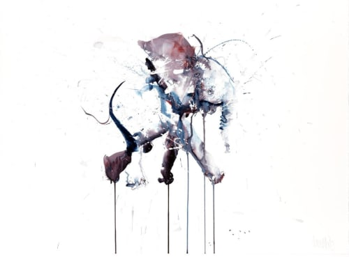 Paintings by Dave White seen at Private Residence, London - Young Elephant III